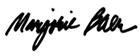 Marjorie's distinctive signature